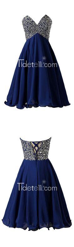 homecoming dress,short homecoming dress,sparkly homecoming dress,royal blue homecoming dress,sweetheart homecoming dress,chiffon homecoming dress,homecoming dress with beads