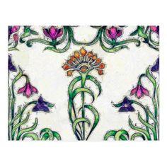 Art Deco Floral Postcard - flowers floral flower design unique style