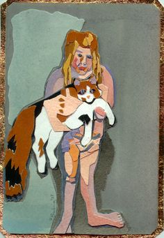 Elizabeth Bisbing - painted paper collage