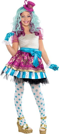 Girls Madeline Hatter Costume Supreme - Ever After High - Party City