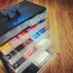 Hama beads storage by innimellom & Perler bead storage | Pinterest | Bead storage Perler beads and Storage
