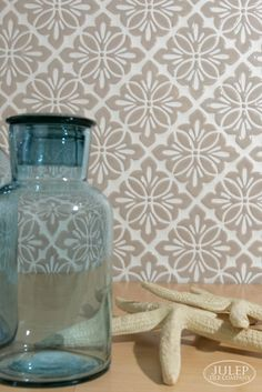 Modern vintage handmade tile for your kitchen or bathroom remodel. Shown here is our Cobham pattern in Latte | juleptile.com