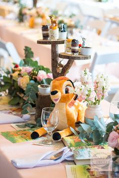 Blissful Bambi | Bambi-themed birthday party | Bambi table centerpiece | Disney-themed party | http://babyandbreakfast.ph/2016/08/08/blissful-bambi/ | Photo: Tyron Cruz
