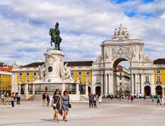 Arc de Triomphe of Praca do Commercio, Lisbon Portugal