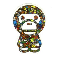 #1234 Baby Milo and Animals , Height 7 cm, decal sticker - DecalStar.com