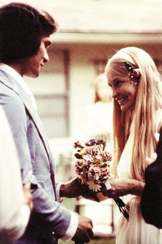 1: Patrick Swayze & Lisa Niemi on their wedding day 2 June 1975
