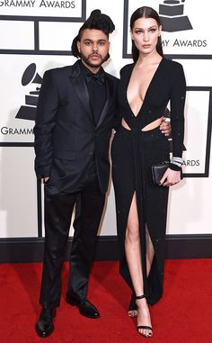 Bella Hadid and The Weeknd Look Stunning While Making Their Red Carpet Debut as a Couple at Grammys  The Weeknd, Bella Hadid, 2016 Grammy Awards, Couples