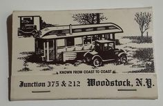 Deanies Restaurant Bar Matchbook RS Hippies Music Woodstock Junction 375 212 NY | Collectibles, Paper, Matchbooks | eBay!