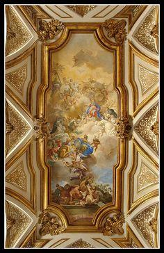 Napoli - sacrestia di San Domenico Maggiore - Trionfo della fede sull'eresia ad opera dei Domenicani