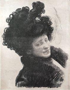 Jozef Mehoffer, the artist's wife portrait
