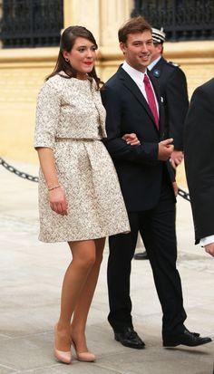 Princess Alexandra and Prince Sebastian, sister and brother of the groom