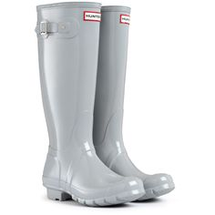 Hunter+Wellington+Boots+Original+Tall+Gloss+Smoke