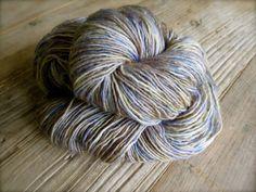 papyrus  hand dyed yarn silk alpaca superwash by pancakeandlulu, $18.00