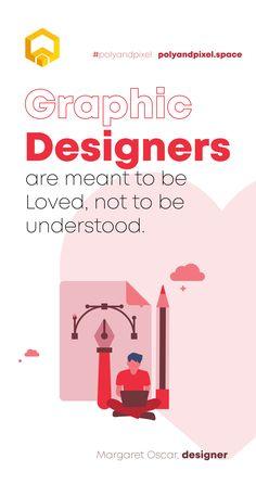 """Designers are meant to be loved, not to be understood."" -- Margaret Oscar, designer . . . . #design #designinspiration #designmotivation #branding #brandingdesign #brandingagency #b2b #agency #webdev #startup #entrepreneurs #businessmotivation #motivation #goals #genx #polyandpixel #designlovers Motivation Goals, Business Motivation, Design Agency, Branding Design, Graphic Design Quotes, Web Platform, Company Values, Creative Company, Beats By Dre"