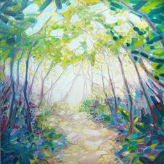 Sussex Woodland Path in Spring - East Grinstead Sussex Art Gallery