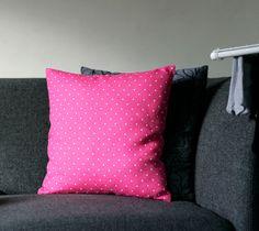 Pink linen pillow cover