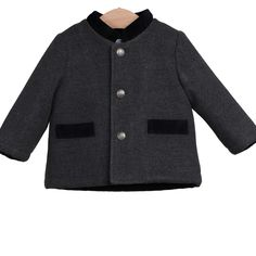 Boys Dark Grey Duffle Coat