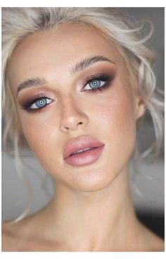Wedding Makeup For Blue Eyes, Blue Eye Makeup, Wedding Hair And Makeup, Makeup For Brown Eyes, Hair Makeup, Bridal Makeup For Blondes, Blonde Bridal Makeup, Make Up For Blue Eyes Blonde Hair, Bridesmaid Makeup Blue Eyes