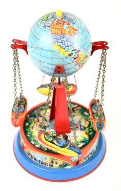 Vintage globe carousel toy
