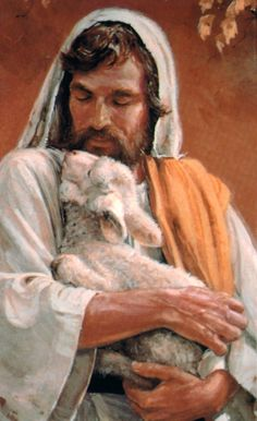 Christ the Good Shepherd. I have tried in vain to find the artist of this picture, I love its tenderness so much. Any help as to the artist is greatly appreciated.