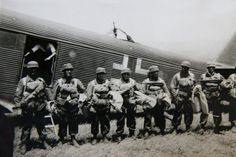 Operation Mercury: German Paratroopers prior to boarding Junkers Aircraft: World War II in Greece prior to invading Crete, pin by Paolo Marzioli Narvik, Luftwaffe, Paratrooper, Battle Of Crete, Victory In Europe Day, South East Europe, George Patton, Rotterdam, Invasion Of Poland