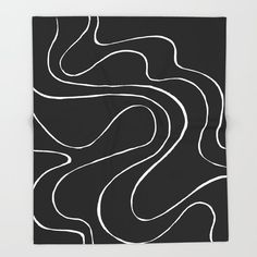Ebb and Flow 2 - Black on White Throw Blanket by laec | Society6 White Throw Blanket, Throw Blankets, White Throws, Canvas Prints, Art Prints, White Art, Black White, From The Ground Up, Diy Home Improvement
