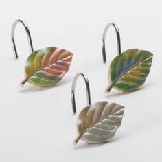 Peacock Leaves 12-pk. Shower Curtain Hooks