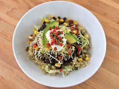 Quinoa Black Bean Burrito Bowls #glutenfree
