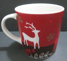 2009 Starbucks Christmas Holiday New Bone China Cup Mug Reindeer Snowflakes Starbucks Christmas, Christmas Holidays, Starbucks Advertising, Stocking Ideas, Bone China, Reindeer, Snowflakes, Mugs, Tableware