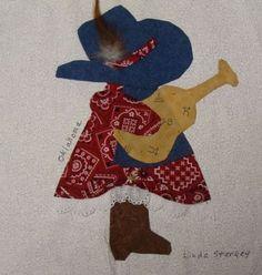 Sun Bonnet Sue's | Cowboy Quilt