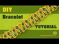 DIY Macramé Spring Leaf Bracelet Tutorial - YouTube