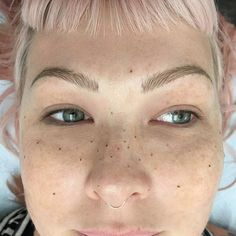 Eyebrow and freckle tattoos by Audrey Glass. AudreyGlass eyebrow cosmetic beauty…