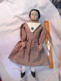 Colonial Style Soft Body Doll With Resin composite head by lamoneeboutique on Etsy