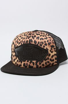 $20 #Vans The Beach Girl Trucker Hat in Black Leopard - Use repcode SMARTCANUCKS for 10-20% off on #Karmaloop - http://www.lovekarmaloop.com