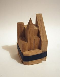 wooden skyline... what would you make from scraps of wood?