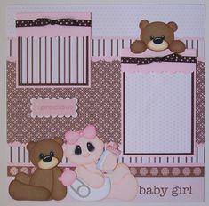 Baby Girl Scrapbook Pages | BLJ Graves Studio: Baby Girl Scrapbook Page