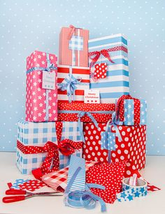 Gift Wrap collection complete with Dots, Stripes and Spots from Dots & Spot.