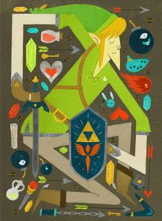 art for the triforce tribute show. by jolby