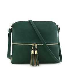 New Trending Cross Body Bags: Lightweight Medium Crossbody Bag with Tassel Olive. Lightweight Medium Crossbody Bag with Tassel Olive  Special Offer: $16.95  388 Reviews This light weight medium size crossbody bag makes easy to organize your everyday items.10″ (W) x 9″ (H) x 0.5″ (D)Zipper closure  front zipper is a functional pocketAdjustable...