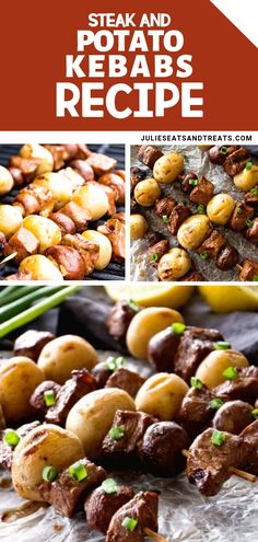 Steak and Potato Kebab Recipe grilled to perfection! This is the best way to have an awesome bond with your family over dinner with a tender and juicy meal. Try this steak kebab recipe for grilling!