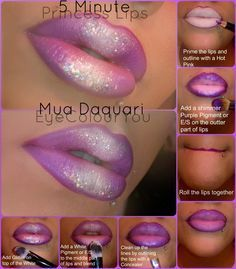 hot pink lipstick with purple lip liner ombre - Google Search