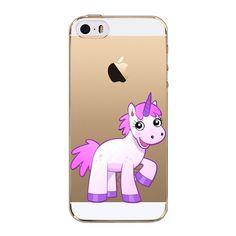 Phone Cover For iPhone 5C Unicorn Rainbow Soft Transparent