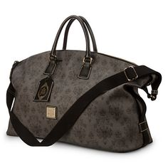 The Haunted Mansion Weekender Bag by Dooney & Bourke Lift your burden Restless spirits take a holiday with our Haunted Mansion Weekender Bag by Dooney & Bourke. The delightfully dark pattern on this fine fashion tote is inspired by the wicked wallpaper design seen in Disney's classic attraction