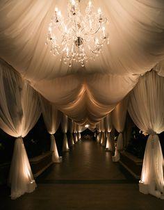 Sunset Ceremony + Neutral-Toned Ballroom Reception in Beverly Hills Wedding Reception Lighting, Reception Entrance, Wedding Ceremony, Wedding Venues, Wedding Draping, Grand Entrance, Entrance Halls, Trendy Wedding, Elegant Wedding
