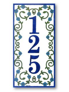 Vertical house number plaque House Number sign by AyeBarDesigns