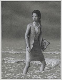 "Aron Wiesenfeld, Ana, charcoal on paper, 25.5"" x 19.5"", 2011"