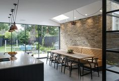 View full picture gallery of Dulwich House Extension Plans, House Extension Design, House Design, Side Extension, Extension Ideas, Loft Design, Open Plan Kitchen Living Room, Open Plan Living, Dining Room