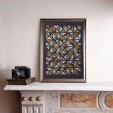 Triangular Gold/Silver A3 Screen Print