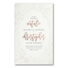Pearl Blooms in Fluorescent White Wedding Invitation Discount Wedding Invitations, Anniversary Invitations, Letterpress Invitations, Bridal Shower Invitations, Bat Mitzvah Invitations, Graduation Announcements, Bar Mitzvah, Wedding Programs, Save The Date Cards