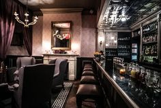 Serving perfectly prepared, fresh-juiced, hand-stirred or shaken classic cocktails and punches designed by a Milk & Honey vet, Raines is a sultrily lit, tin-ceiling subterranean sleeve marked only...